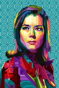 Hommage à Diana Rigg PORTRAIT icône art Galerie personnalisée