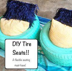 DIY Tire Seats - Flexible Seating. Lady Literacy