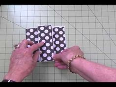 cardmaking video ... New Card Fold from Tuesday's with Expression ... middle panel pops out ... decorations cut with Cricut cartridges but the card is a regular cut and fold with layers ... really cute little card ...