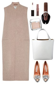 """Acne studio vest"" by thestyleartisan ❤ liked on Polyvore featuring Acne Studios, Hourglass Cosmetics, Pryma, Maybelline, women's clothing, women, female, woman, misses and juniors"