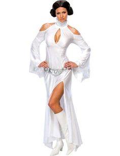 Amazon.com: Rubies Co. Inc. - Princess Leia White Dress Md Halloween ...