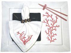 Fashion Coral Machine Embroidery
