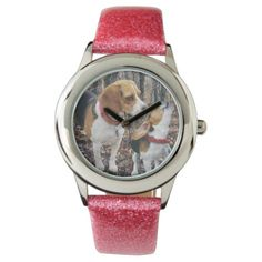 Beagle Mom & Puppy Wrist Watch  malinois puppy, maltese poodle puppy, blue tick beagle #husky #dog #dogs, back to school, aesthetic wallpaper, y2k fashion Beagle Facts, Beagle Funny, Maltese Poodle Puppies, Blue Tick Beagle, Lemon Beagle, Malinois Puppies, Pocket Beagle, Beagle Mix, Telling Time