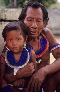 Brazil | Kayapo Amerindians.  Amazon | © Mark Edwards/Hard Rain Picture Library