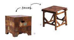 Bambu e Pachtwork são texturas descontraídas e elegantes para as Festas Juninas! Stool, Furniture, Home Decor, Bonfire Parties, Decoration Home, Room Decor, Stools, Home Furniture, Chair