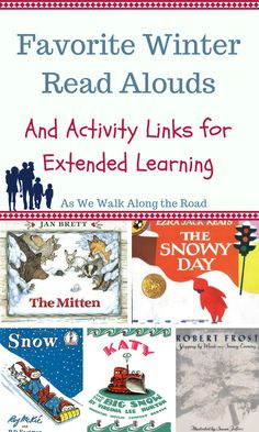 Looking for fun winter read alouds? You can find five winter-themed books along with links to extended learning activities here.