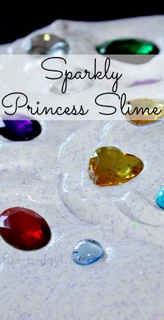 Sparkly Slime for little princes and princesses!  An incredibly fun sensory play idea for a fairy tale theme (or just because)! Come see all the creative ways these preschoolers played with sparkly princess slime!