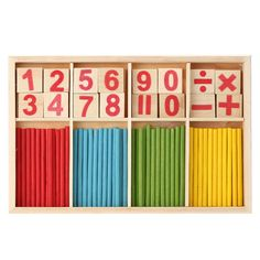 Children Wooden Numbers Mathematics Early Learning Counting Educational Toy Educational Toys Kids Gift wood toy wooden toy