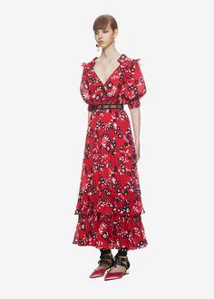 ae4b8ce704 Self Portrait Floral Print Shirt, Floral Prints, Feminine Dress, Summer  Wardrobe, Wrap
