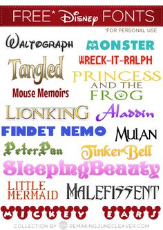 Free Disney Fonts  ~~ {16 free fonts w/ easy download links}