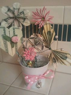 Another money plant for a baby shower.