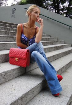 Chanel and denim. Casual.