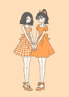Cute Art Styles, Cartoon Art Styles, Kawaii Art, Kawaii Anime, Cartoon Kunst, Anime Best Friends, Dibujos Cute, Fashion Design Drawings, Korean Art