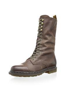 41% OFF Dr. Martens Women's Bridge Boot (Dark Brown Darkend Mirage)