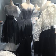 View from the Maticevski studio of the SS15 collection during the design stage tonimaticevski.com