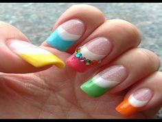 Colorful Nail Art Idea