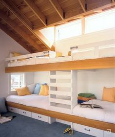 quad bunks. Love!