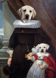 The Royalty of the Kingdom of Doggy, circa 145....   Arf! Arf!     ....by Thierry Poncelet