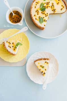 Food Photography Behind The Lens: White Chocolate + Passionfruit Cheesecake