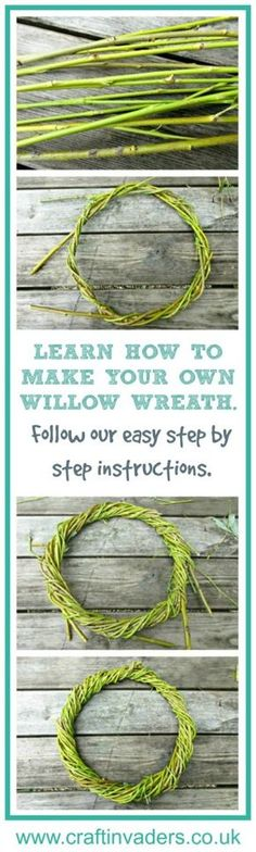 Easy tutorial showing you how you can make a simple willow wreath at home - perfect base for a Christmas Wreath