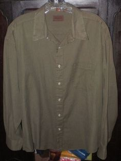 Speakeasy Brand Men's Button Up Plaid Long Sleeve Shirt~17-1/2~34-35~Army Green | Clothing, Shoes & Accessories, Men's Clothing, Dress Shirts | eBay!
