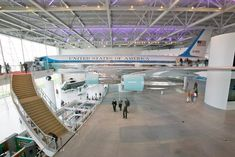 The Air Force One Pavilion, dedicated on October 21, 2005, was inaugurated by former first ladies Nancy Reagan and Laura Bush. The Boeing 707, which flew every president from Nixon to George W. Bush, is 152 feet long, 43 feet in height, and has a wingspan of 146 feet.