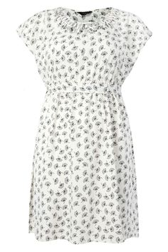 Ivory fan print lattice detail sleeveless dress plus size 16,18,20,22,24,26,28,30,32