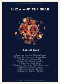 If you fell in love with ELIZA AND THE BEAR at #EvoE13 and #Evo13, GREAT NEWS - they're coming back to The Cluny 2 in September. Tickets available now.
