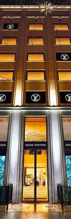 """Louis Vuitton Paris on the Avenue des Champs-Élysées is six floors of heavenly shopping. Just remember to look for the """"Red Scarf"""" to assist you."""
