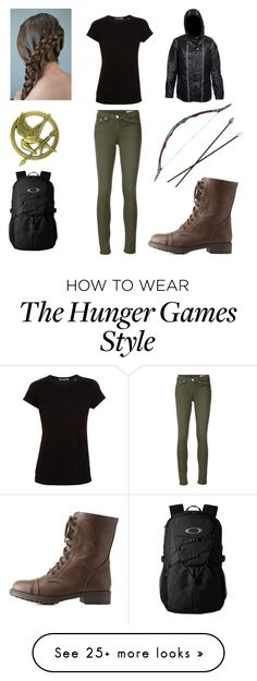 """""""KATNISS EVERDEEN"""" by a-v-a-196 on Polyvore featuring Vince, rag & bone/JEAN, Charlotte Russe and Oakley"""