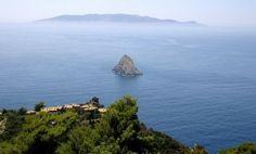 Вид на море в Кала-Пиккола- Монте-Арджентарио Тоскана