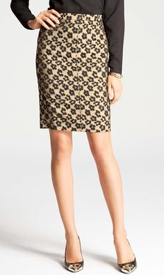 """A leopard-print pencil skirt is a wardrobe staple. For those times you want to say """" Yes, I'm perfectly willing to sleep my way to the top."""""""