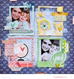 #papercraft #scrapbook #layout  LOVE YOU by PaigeEvans at @Studio_Calico