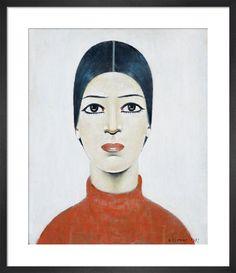 Premium Giclee Print: Portrait Of Ann Art Print by Laurence Stephen Lowry by Laurence Stephen Lowry : English Artists, British Artists, Salford, Beauty Portrait, Tk Maxx, Canvas Prints, Art Prints, Art Uk, Art For Art Sake