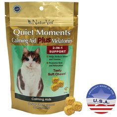 NaturVet 50 Count Quiet Moments Calming Cat Plus Melatonin Soft Chew >>> You can get more details by clicking on the image.