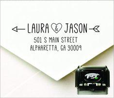 Love Arrow Personalized Self Inking Return by PrettySweetParty