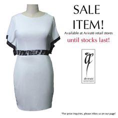 Love a little bit of lace on your dresses? Shop our sale items today!  #Avirate #EOSS #Lacelove #Megasale #Dresses