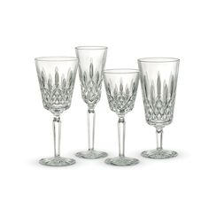 Waterford Lismore Tall Stemware Collection Home - Dining & Entertaining - Drinkware - Bloomingdale's Waterford Crystal Glasses, Crystal Glassware, Waterford Lismore, Wedding Glasses, Flute, Wine Glass, Glass Art, Table Settings, Setting Table