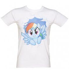 Men's #RainbowDash #MLP Friendship Is Magic Cloud Face T-Shirt from TruffleShuffle xoxo #FIM
