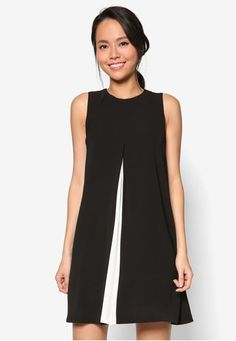 Collection Colour Block Swing Dress from ZALORA in black and white_1