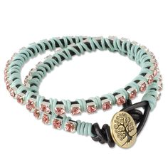We're having way too much fun around here with wrap bracelets! Here's another idea using Swarovski cupchain!