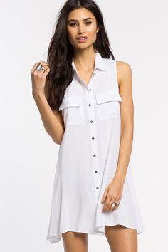 Women's Day Dresses | Buttonfront Shift Dress | A'GACI