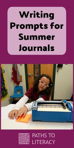 Writing prompts for summer journals can help braille students maintain their skills during the summer holidays. Summer School, School Days, Writing Skills, Writing Prompts, Summer Homework, Summer Journal, Journal Topics, Are You Scared, Technical Writing