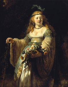 "Rembrandt, ""Saskia as Folra"" National Gallery, London."