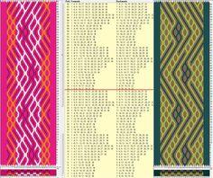 Two opposite threadings - same movements / 36 tarjetas, 4 colores, repite cada 32 movimientos // sed_518 & sed_518a diseñado en GTT༺❁