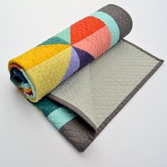 Handmade modern quilt from Twiggy and Opal on Etsy. They're so gorgeous.