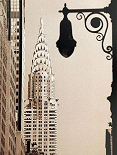 The Chrysler Building, built in is an example of Art Deco architecture. It is the third tallest building in New York City. Great Places, Places To Go, A New York Minute, Chrysler Building, New York Architecture, Building Art, Inspirational Posters, Street Lamp, Concrete Jungle