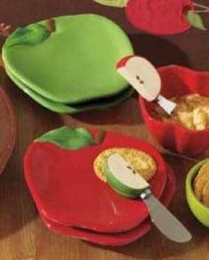 Apple Shaped Appetizer Plate