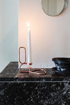 Dark marble meets Copper.
