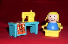 Vintage Fisher Price Little People Aqua Sewing Machine W/W Girl (Ages 2-6) 571  | eBay